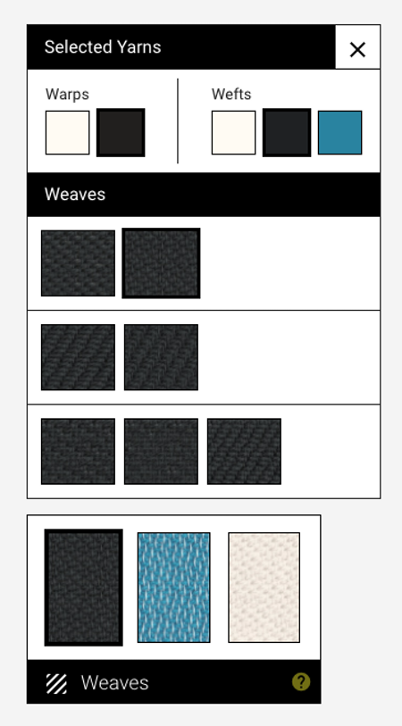 The weaves menu