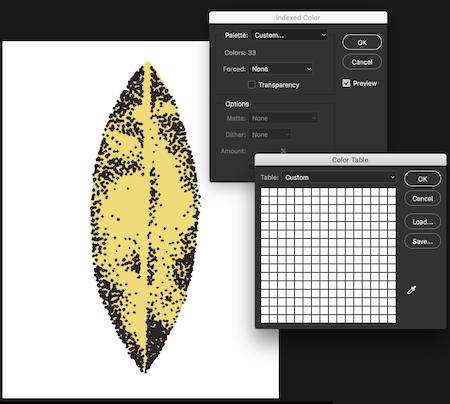 Color indexing palette